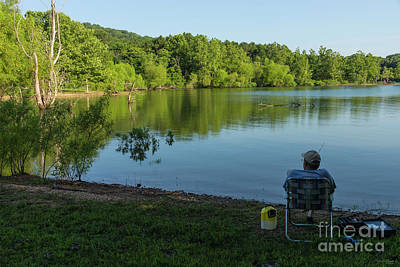 Photograph - Fishing In The Morning by Jennifer White
