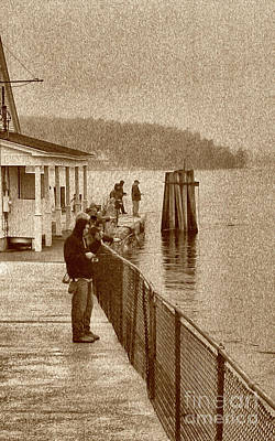 Photograph - Fishing In The Rain by Skip Willits