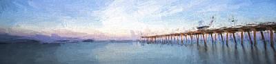 Pier Digital Art - Fishing In Venice, Florida II by Jon Glaser