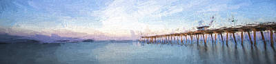 Animals Digital Art - Fishing in Venice, Florida II by Jon Glaser