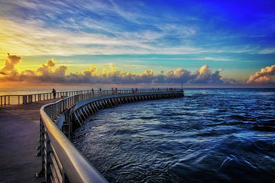 Photograph - Fishing Jetty At Sunrise by Debra and Dave Vanderlaan