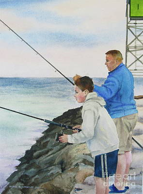 Painting - Fishing by Karol Wyckoff