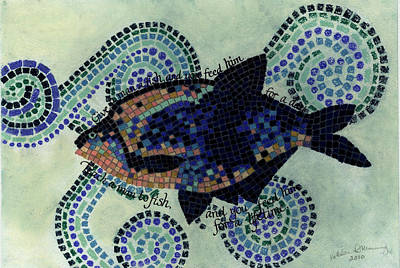 Funds Mixed Media - Fishing by Kathleen Manning