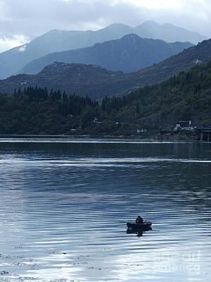 Photograph - Fishing - Lake Skada by Phil Banks