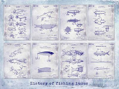 Lure Photograph - Fishing Lure Patent History by Jon Neidert