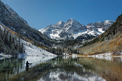 Photograph - Fishing Maroon Lake by Jemmy Archer