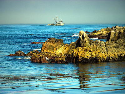 Fishing Monterey Bay Ca Art Print