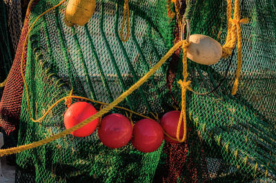 Photograph - Fishing Net And Buoys Florida Dsc00691_16 by Greg Kluempers