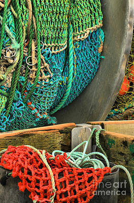 Photograph - Fishing Net Portrait by Adam Jewell