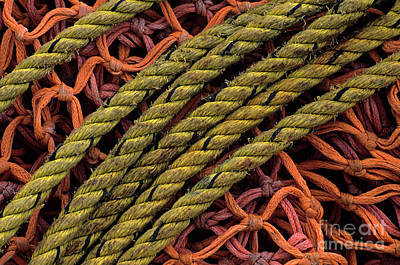 Photograph - Fishing Nets Abstract by Jim Corwin
