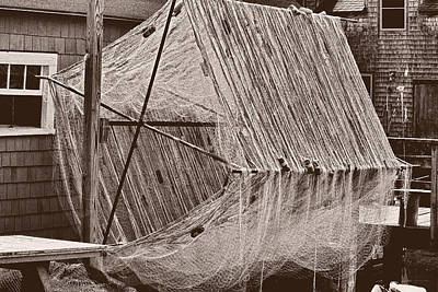 Photograph - Fishing Nets - Black And White by Ron Grafe