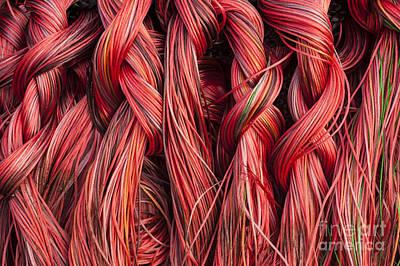 Photograph - Fishing Nets Close-up by Jim Corwin