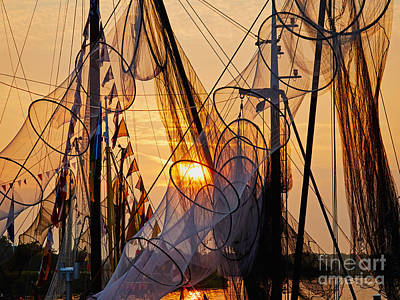 Photograph - Fishing Nets During Sunset by Nick  Biemans