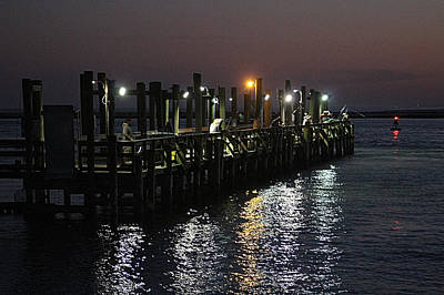 Photograph - Fishing Off The Oceanic Fishing Pier by Robert Banach