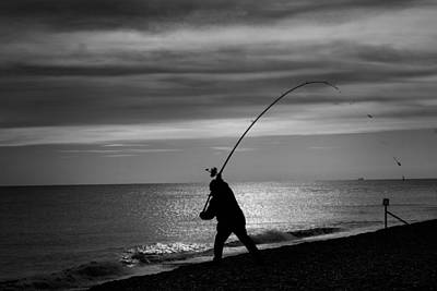 Photograph - Fishing On Aldeburgh Beach by David Calvert