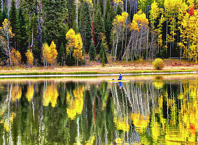 Photograph - Fishing On Dream Lake Colorado by James Steele