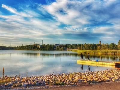 Photograph - Fishing On Helsinki Lake by Paul Mc Namara