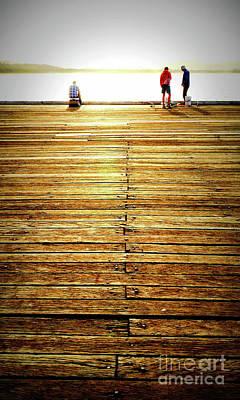 Photograph - Fishing On Tathra Wharf by Lexa Harpell
