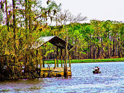 Photograph - Fishing On The Bayou by Frances Ann Hattier
