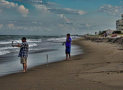 Photograph - Fishing On The Beach by Marilyn Holkham