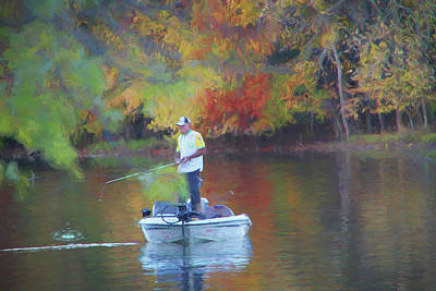 Painting - Fishing On The Lake 0420 - Painting by Ericamaxine Price