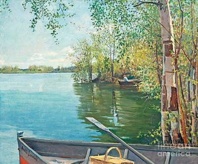 Painting - Fishing On The Lake by Amelie Lundahl