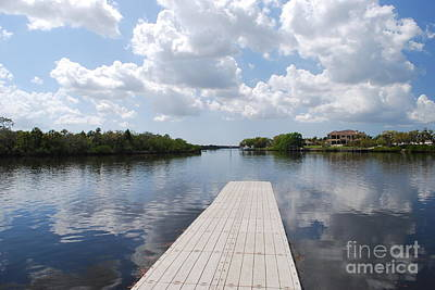 Photograph - Fishing Pier At Fort Hamer Park by Gary Wonning