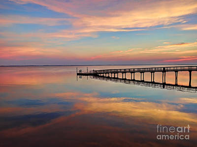 Photograph - Fishing Pier Duck Obx by Jeff Breiman