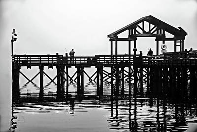 Photograph - Fishing Pier, Leesylvania State Park, Va by Bill Jonscher