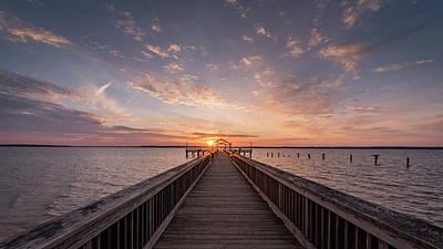 Photograph - Fishing Pier Sunrise by Michael Donahue