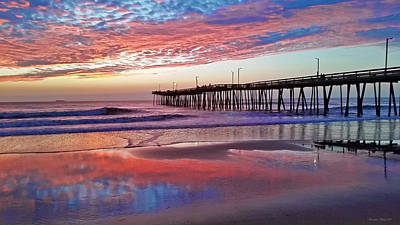 Photograph - Fishing Pier Sunrise by Suzanne Stout