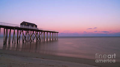 Bath Time - Fishing Pier Sunset  by Michael Ver Sprill