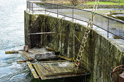 Photograph - Fishing Platforms At Cascade Locks by Tom Cochran