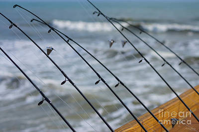 Photograph - Fishing Poles Abstract by Jennifer White