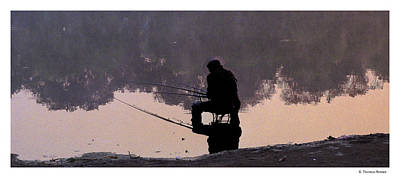 Art Print featuring the photograph Fishing by R Thomas Berner