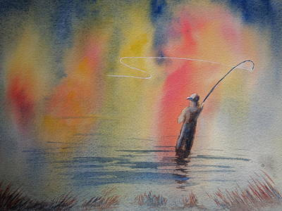 Painting - Fishing by Rod Stewart