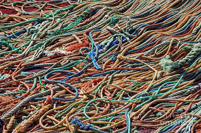 Gear Photograph - Fishing Ropes by Carlos Caetano