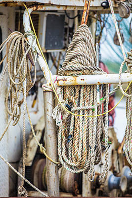 Photograph - Fishing Ropes On Boat  by John McGraw