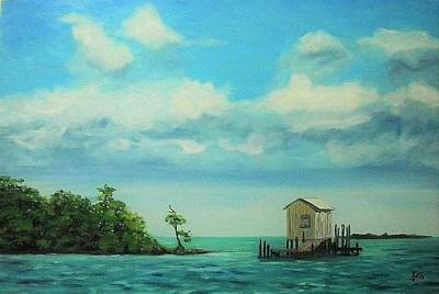 Oil Painting - Fishing Shack by James Jopson