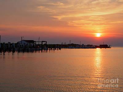 Photograph - Fishing Shanties At Sunset On Tangier Island Chesapeake Bay by Louise Heusinkveld