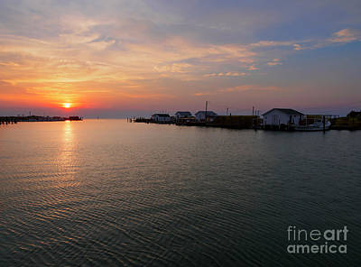 Photograph - Fishing Shanties At Sunset On Tangier Island In Chesapeake Bay by Louise Heusinkveld