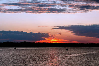 Photograph - Fishing Sunset by Doug Long