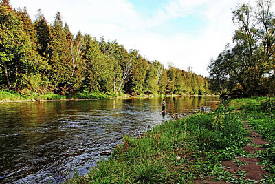 Photograph - Fishing The Grand River by Debbie Oppermann