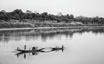 Photograph - Fishing The Lower Ganges by Chris Cousins