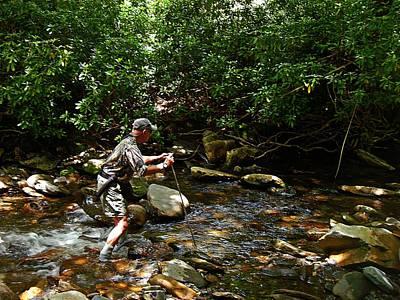 Photograph - Fishing The Pocket Water by Joe Duket