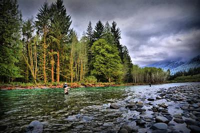 Fishing The Run Art Print