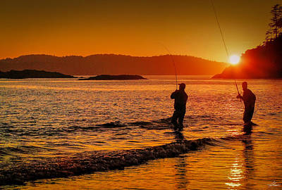 Photograph - Fishing The Salt Water On The Bc Coast by Philip Rispin