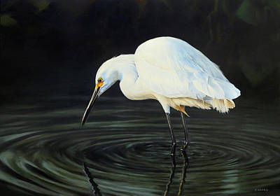 Painting - Fishing The Shadows by Peter Eades