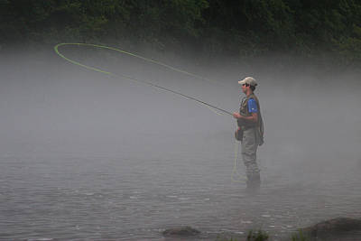 Photograph - Fishing The Watauga River by Ken Barrett
