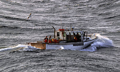 Photograph - Fishing The Waters Of Down East Maine by Marty Saccone